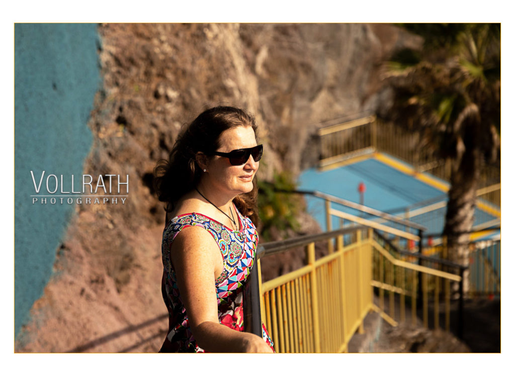 Die hübsche Helene beim Photoshooting to go auf Madeira