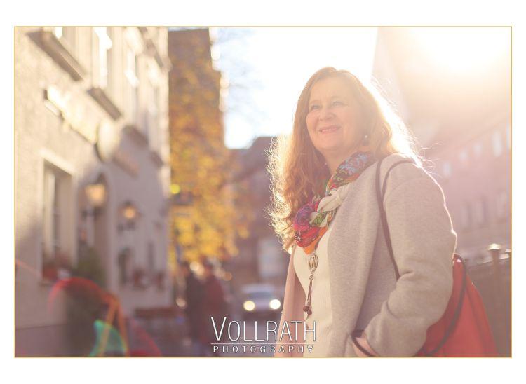 Helene beim Photoshooting to go in der Augsburger Altsatdt