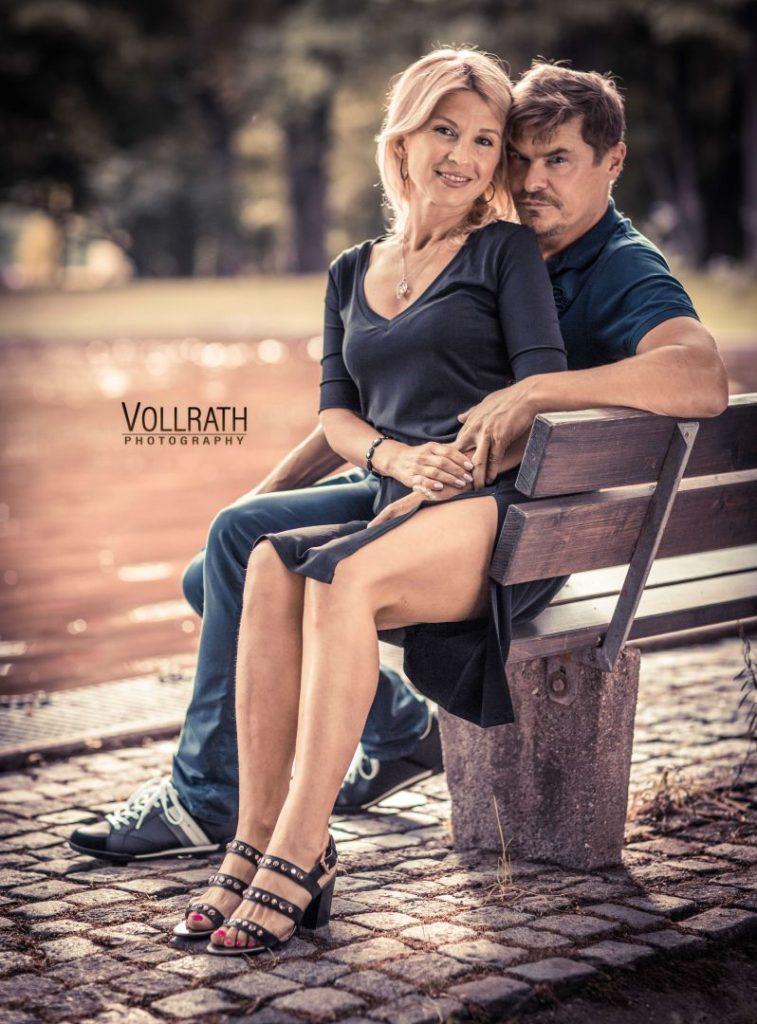 Die reizende Oksana mit Andreas beim Portraitshooting im Wittelsbacher Park in Augsburg