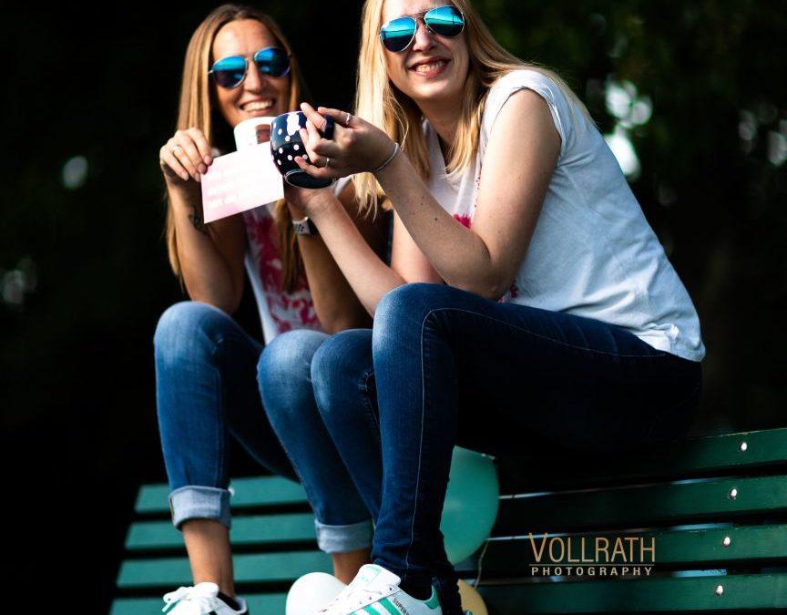 Jessi und Babett beim Freundschaftsshooting am Starnberger See, die hatten richtig Spaß die Zwei!