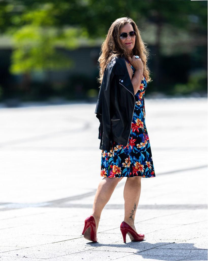 Helene beim Portrait- und Fashionshooting